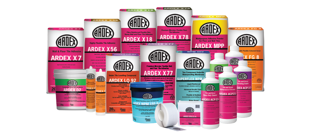 Ardex Waterproofing products
